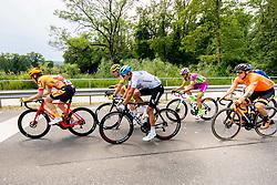 Antonio ANGULO SAMPEDRO of EUSKALTEL - EUSKADI, Jacob SCOTT of CANYON DHB SUNGOD, Luca COVILI of BARDIANI CSF FAIZANE, Dmitrii STRAKHOV of GAZPROM – RUSVELO and Jonas Iversby HVIDEBERG of UNO - X PRO CYCLING TEAM4 during 1st Stage of 27th Tour of Slovenia 2021 cycling race between Ptuj and Rogaska Slatina (151,5 km), on June 9, 2021 in Sports park Kranj, Kranj, Slovenia. Photo by Vid Ponikvar / Sportida