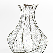 """Title: Maiden Vessel 173<br /> Artist: Elena Lipowski<br /> Date: 1999<br /> Medium: Steel and glass<br /> Instructor: Tom Gingras<br /> Dimensions: 18 x 23 x 29""""<br /> Status: Available<br /> Location: HLC Storage"""