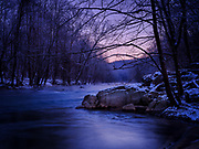 Winter dawn on the Patapsco River at Oella, Maryland.