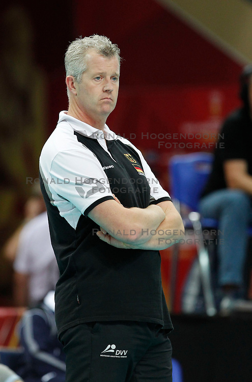 07.09.2014, Spodek, Katowice, POL, FIVB WM, Deutschland vs Süd Korea, Gruppe B, im Bild VITAL HEYNEN TRENER HEAD COACH GER // during the FIVB Volleyball Men's World Championships Pool B Match beween Germany and South Korea at the Spodek in Katowice, Poland on 2014/09/07. <br /> <br /> ***NETHERLANDS ONLY***