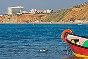 Israel Natanya Beached fishing boat.