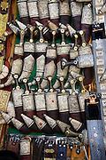 Jambiyas on display at a market stall in Sanaa, Yemen.