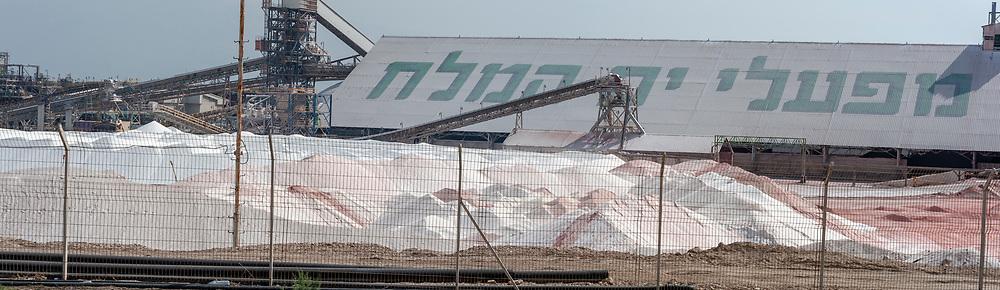 Israel, Sdom, The Dead Sea Works LTD. Israeli potash plant on the shore of the Dead Sea