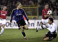 FOTBALL, BRUGGE, 25/11/2004 <br /> UEFA CUP GROUP C / FC BRUGGE - FC UTRECHT / UEFA COUP - CROUP C / UEFA BEKER GROEP C / CLUB BRUGGE - FC UTRECHT / <br />  RUNE LANGE, BRUGGE<br /> Foto: DIGITALSPORT