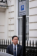 Myanmar's ex-ambassador to London, Kyaw Zwar Minn, who spent the night in his car after his country's military attaché denied him entry into his embassy, arrives back without access, on 8th April 2021, in London, England. The democratically-elected government in Myanmar was overthrown by a military-led coup in February.