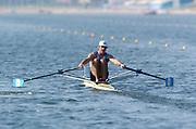 20040814 Olympic Games Athens Greece [Rowing]<br /> Photo  Peter Spurrier <br /> ARG M1X Santiago Fernadez<br /> email;  images@intersport-images.com<br /> Tel +44 7973 819 551<br /> [Mandatory Credit Peter Spurrier/ Intersport Images]