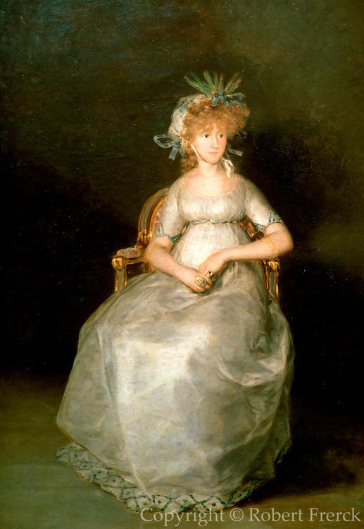 SPAIN, MADRID, PRADO 'The Countess of Chinchon' by Goya