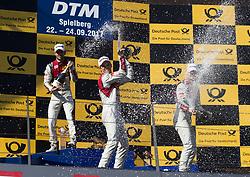 September 23, 2017 - Spielberg, Austria - Motorsports: DTM 08 Spielberg 2017,.Jamie Green, Mattias Ekström, Nico Müller. (Credit Image: © Hoch Zwei via ZUMA Wire)