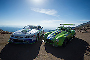 June 26-30 - Pikes Peak Colorado.  Randy and Layne Schranz works through sector 2 on the mountain during practice for the 91st running of the Pikes Peak Hill Climb.