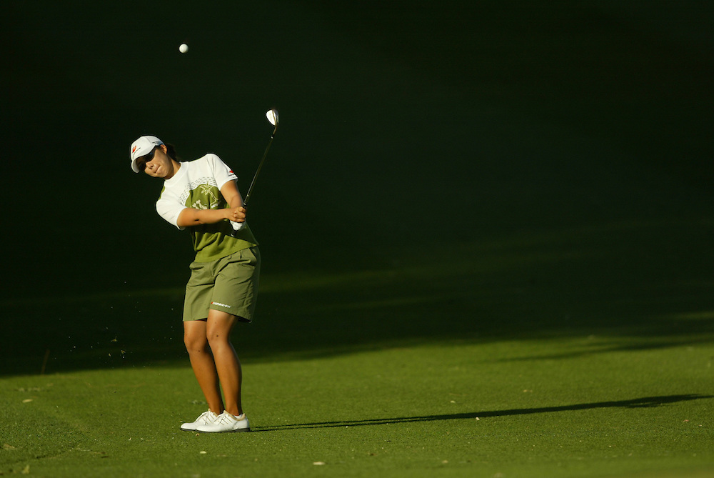 Jung Yeon Lee..2004 Kraft Nabisco Championship.MIssion Hills CC.Rancho Mirage, CA .Second Round.Friday, March 26 2004..photograph by Darren Carroll