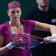 Petra Kvitova of the Czech Republic during their TEB BNP Paribas WTA Championships at Sinan Erdem Arena in Istanbul Turkey on Tuesday, 29 October 2011. Photo by TURKPIX