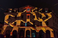 Odysseus - Saint-Paul Station, Lyon 5<br /> Artist: Flshka design<br /> TheFestival of Lights inLyon,Franceexpresses gratitude towardMary, mother of Jesusaround December 8th of each year.<br /> This uniquely Lyonnaise tradition dictates that every house place candles along the outsides of all the windows to produce a spectacular effect throughout the streets. The festival includes other activities based on light and usually lasts four days, with the peak of activity occurring on the 8th. <br /> The two main focal points of activity are typically theBasilica of Fourvierewhich is lit up in different colours, and thePlace des Terreaux, which hosts a different light show each year.<br /> Spared from plague<br /> The origins of the festival date to 1643 when Lyon was struck byplague. <br /> On September 8,1643 the municipal councillors promised to pay tribute to Mary if the town was spared. Ever since, a solemn procession makes its way to the Basilica of Fourviere on 8 December (the feast of theImmaculate Conception) to light candles and give offerings in the name of Mary. <br /> In part, the event thus commemorates the day Lyon was consecrated to the Virgin Mary.