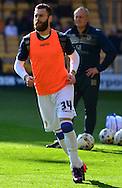 Mirco Antenucci warms up during the Sky Bet Championship match between Wolverhampton Wanderers and Leeds United at Molineux, Wolverhampton, England on 6 April 2015. Photo by Alan Franklin.