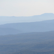 Layers of ridges in the Blue Mountains as seen from Echo Point in Katoomba, New South Wales, Australia.