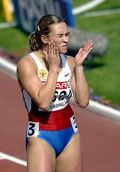 08-08-2006 ATLETIEK: EUROPEES KAMPIOENSSCHAP: GOTHENBORG <br /> Pospelova, Svetlana (RUS) klaar voor de 400 meter<br /> ©2006-WWW.FOTOHOOGENDOORN.NL
