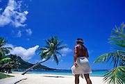 Image of the beach on Bora Bora, Tahiti, French Polynesia by Randy Wells