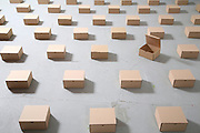 geometry packing boxes on the floor