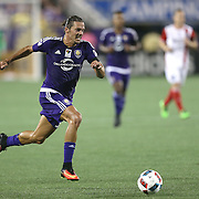 ORLANDO, FL - JUNE 18:  Adrian Winter #32 of Orlando City SC chases a loose ball during an MLS soccer match between the San Jose Earthquakes and the Orlando City SC at Camping World Stadium on June 18, 2016 in Orlando, Florida. (Photo by Alex Menendez/Getty Images) *** Local Caption *** Adrian Winter