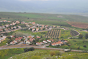 The Dado observation Point overlooking Metula, Upper Galilee, Israel