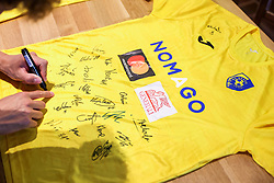 Signed jersey of NK Bravo after the football match between NK Domzale and NK Aluminij in 36th Round of Prva liga Telekom Slovenije 2020/21, on May 22, 2021 in Sportni park Domzale, Slovenia. Photo by Vid Ponikvar / Sportida