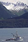 Alaska. Commercial fishing vessels out of Valdez, Alaska. Prince William Sound.