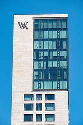 Exterior view of the new Waldorf Astoria Hotel in Berlin, Germany
