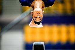 October 28, 2018 - Doha, Quatar - Melanie Jesus De Dos Santos of France   during  Uneven Bars qualification at the Aspire Dome in Doha, Qatar, Artistic FIG Gymnastics World Championships on 28 of October 2018. (Credit Image: © Ulrik Pedersen/NurPhoto via ZUMA Press)