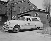 Y-510324.  Little Chapel of the Chimes Flower Car. March 24, 1951.