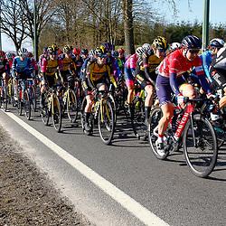 25-04-2021: Wielrennen: Luik Bastenaken Luik (Vrouwen): Luik<br />Peloton onderweg in de Ardennen