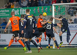 Dundee United's Pavol Safranko and Falkirk's Ian McShane. hafl time : Falkirk 0 v 0 Dundee United, Scottish Championship game played 23/2/2019 at The Falkirk Stadium.