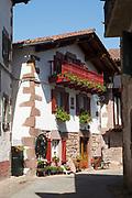 Typical Basque house in town of Erratzu in Valle de Baztan, Basque Country, Spain