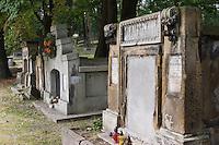 grave Stone in Old Podgorze Cemetary in Krakow Poland
