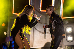 Jennifer Lopez performs with Randy Malcom Martinez of Gente de Zona during a live-taping ahead of the Macy's 4th of July Firework Show at Hunter's Point South Park on June 30, 2017 in New York City. (Photo by Steven Ferdman/SIPA USA) *** Please Use Credit from Credit Field ***