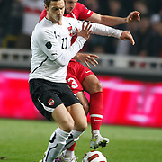 Austria's Marko ARNAUTOVIC (L) during their UEFA EURO 2012 Qualifying round Group A soccer match Turkey betwen Austria at Sukru Saracoglu stadium in Istanbul March 29, 2011. Photo by TURKPIX