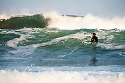 Surfing hurricane swell in Point Judith from Hurricane Jose