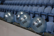 Coventry City fans leave behind protest balloons the during the English League One match at the Rioch Arena Stadium, Coventry. Picture date: December 15th, 2016. Pic Simon Bellis/Sportimage