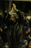 Fotball<br /> England 2004/2005<br /> Foto: SBI/Digitalsport<br /> NORWAY ONLY<br /> <br /> Birmingham City v Southampton<br /> Barclays Premiership. 02/02/2005.<br /> Southampton's manager Harry Redknapp applauds his team's supporters.