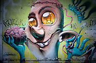 Graffiti on a wall in Friedrichshain, Berlin, Germany