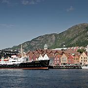 Three weeks aboard the Kong Harald. Hurtigruten, the Coastal Express. Bryggen wharf.