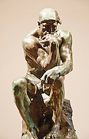 """National Gallery, Washington DC. Sculpture """"The Thinker"""" by Rodin."""