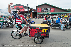 Lazelle Street in Sturgis during the 75th Annual Sturgis Black Hills Motorcycle Rally.  SD, USA.  August 7, 2015.  Photography ©2015 Michael Lichter.