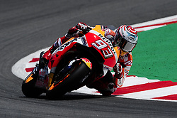 June 16, 2018 - Barcelona, Catalonia, Spain - The Spanish rider, Marc Marquez of Repsol Honda Team, riding with his Honda during the Qualifying, Moto GP of Catalunya at Circuit de Catalunya on June 16, 2018 in Barcelona, Spain. (Credit Image: © Joan Cros/NurPhoto via ZUMA Press)