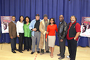 """Cast of """"Cat on a Hot Tin Roof"""" l to r: Giancarlo Esposito, Lisa Arrindell,  Phylicia Rashad, James Earl Jones, Terrence Howard, Anika Noni Rose, Louis Meyers and Count Stovall, at """" Cat on a Hot Tin Roof """" Press conference announcing limited broadway run,  at Broad Hurst Theater on January 8, 2008 in New York City"""