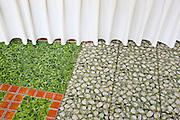 Verdant floor tiles in the Green Hotel,  Hue, Vietnam