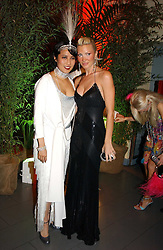 Left to right, PATTI WONG and Model CAPRICE BOURRET at Andy & Patti Wong's Chinese New Year party to celebrate the year of the Rooster held at the Great Eastern Hotel, Liverpool Street, London on 29th January 2005.  Guests were invited to dress in 1920's Shanghai fashion.<br /><br />NON EXCLUSIVE - WORLD RIGHTS