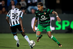 (L-R) Jamiro Monteiro of Heracles Almelo, Jean Paul Boetius of Feyenoord during the Dutch Eredivisie match between Heracles Almelo and Feyenoord Rotterdam at Polman stadium on September 09, 2017 in Almelo, The Netherlands