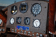 Instrument panel on Mathew Northway's Interstate Cadet, NC37369, at Creswell Airport.