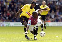 Fotball<br /> England 2004/2005<br /> Foto: SBI/Digitalsport<br /> NORWAY ONLY<br /> <br /> Watford v West Ham United Coca-Cola Championship.<br /> <br /> Nigel Reo-Coker of West Ham is tripped by Watford's Al Bangura