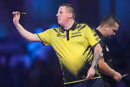 Dave Chisnall during the PDC William Hill World Darts Championship at Alexandra Palace, London, United Kingdom on 23 December 2019.