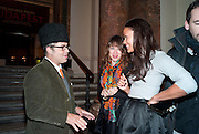 HALUK ACAKCE; ANNIE MORRIS; RACHEL BARRETT ROYAL ACADEMY CONTEMPORARY CIRCLE FUNDRAISING EVENT. Royal Academy. Piccadilly. London. 30 September 2010. -DO NOT ARCHIVE-© Copyright Photograph by Dafydd Jones. 248 Clapham Rd. London SW9 0PZ. Tel 0207 820 0771. www.dafjones.com.